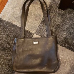 The sak brown leather purse